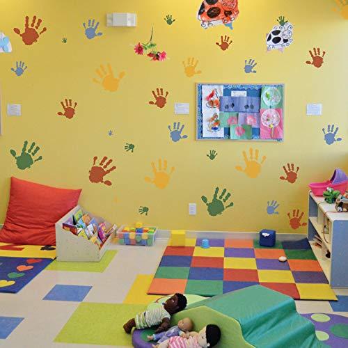 5/pezzi di plastica riutilizzabile stencil////Hand////Palm////34/x 34/cm a 9/x 9/cm////Kids Room Decor////cameretta da.
