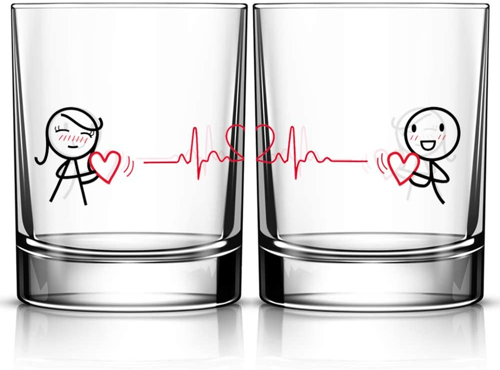 ejemplo de vasos de shot para pareja