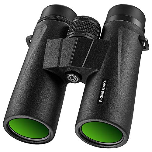 Braoses Binoculars for Adults, 10×42 Binoculars with Low Night Vision, Compact HD Binoculars for Bird Watching, Travel, Hunting, Safari, Concerts, Sports, Stargazing and Outdoor, with BAK4 Prism, FMC