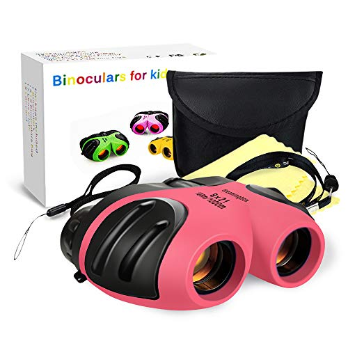 Toys for 3-12 Year Old Girls,TOP Gift Compact Binocular for Kids Gifts for Teen Girl Toys for 3-12 Year Old Boys 2018 Christmas New Gifts for 3-12 Year Old Girls Boys Stocking Fillers Pink TGUS010
