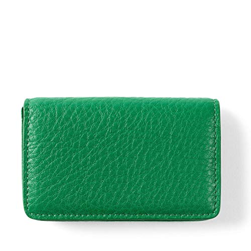Business Card Case - Full Grain Leather - Kelly Green (Green) (Italian Leather Business Card)