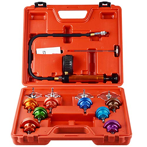 ZaZaTool Universal Radiator Pressure Tester Cooling System Head Gasket Leak Detector