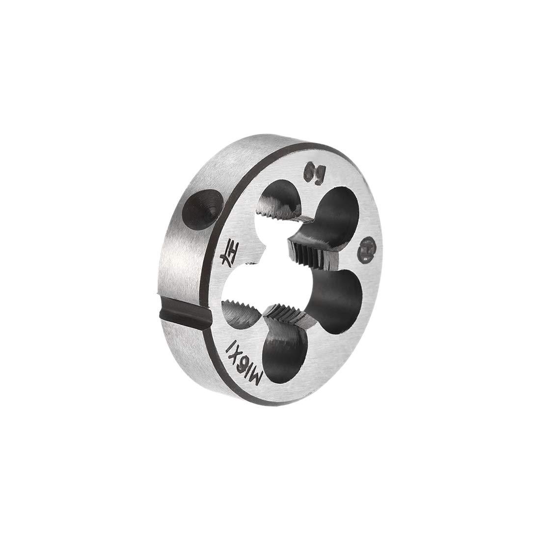 uxcell M14 X 1.5 Metric Round Die Machine Thread Left Hand Threading Die Alloy Tool Steel