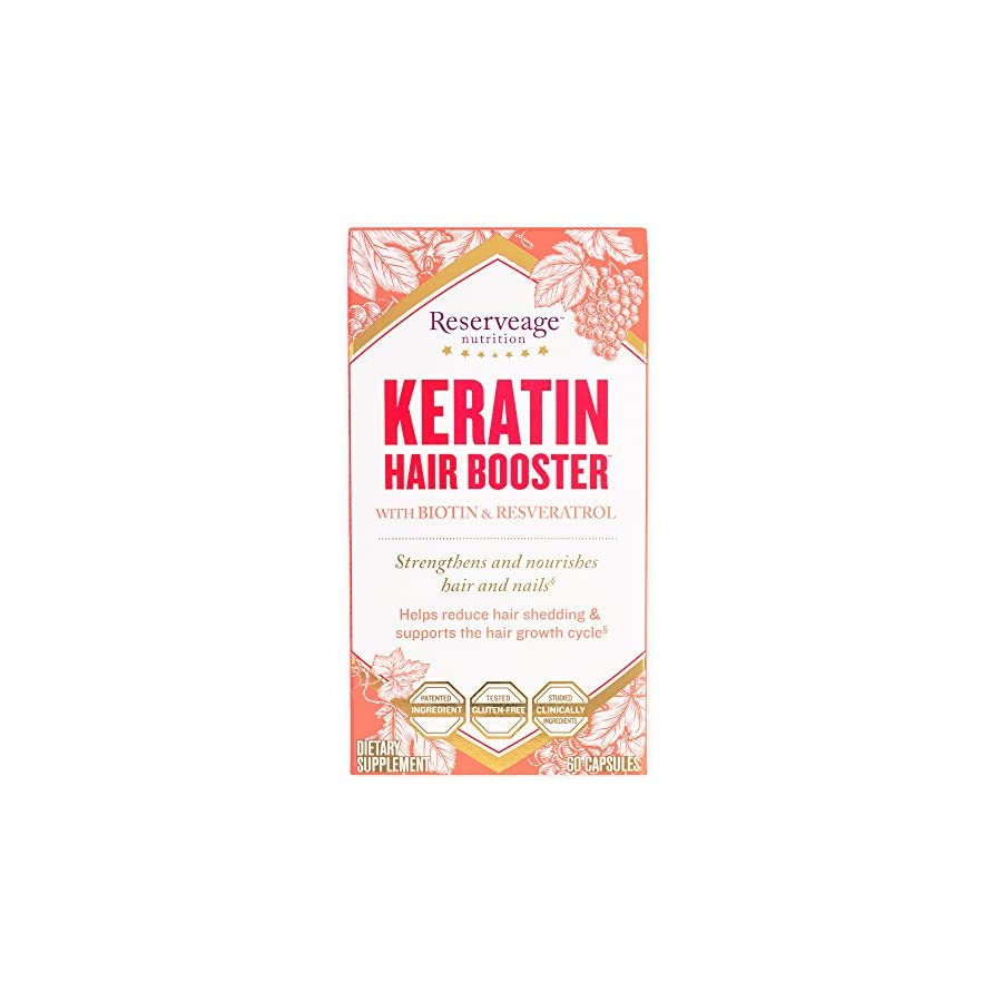 Reserveage Keratin Hair Booster with Biotin & Resveratrol