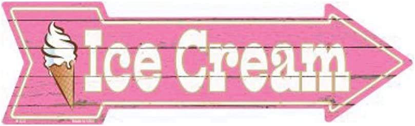 Smart Blonde Ice Cream Novelty Metal Arrow Sign A-275