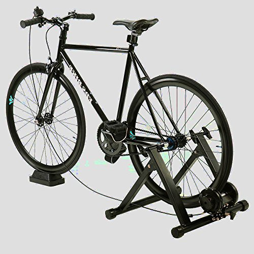 Bike Trainer Stand Mountain Bike Exercise Stationary Spin Bike Trainer Indoor Biking Cycle Portable Riser Fitness Bike Stand & e Book by AllTim3Shopping by ATS