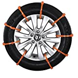 Shmbada Vehicle Tire Snow Chains Emergency Traction Aid Anti Skid Kit for Car Vans Light Trucks Suv ATV Sedan (Direct fit) 10pcs With Snow Scraper