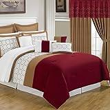 Lavish Home 66-00008-24pc-K 25-Piece Room-in-a-Bag Sarah Bedroom Set, King