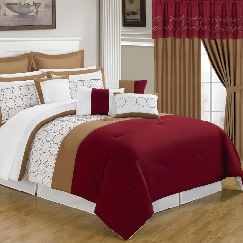 Lavish Home 66-00008-24pc-K 25-Piece Room-in-a-Bag Sarah Bed