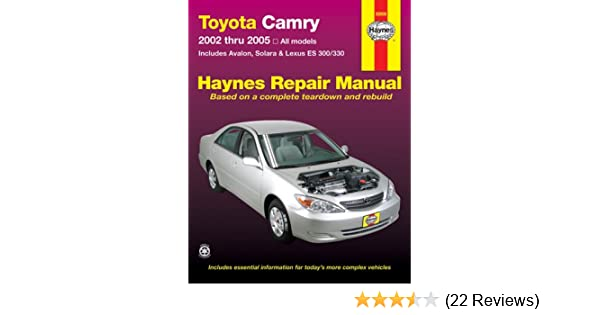 toyota camry avalon solara lexus es300 330 repair manual 2002 rh amazon com 2005 lexus es330 service manual pdf 2005 lexus es330 service manual pdf