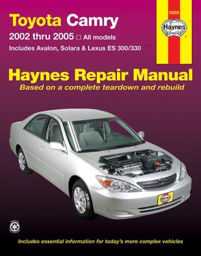 toyota camry avalon solara lexus es300 330 repair manual 2002 rh amazon com 2002 Camry Owners Manual PDF toyota camry 2002 repair manual pdf