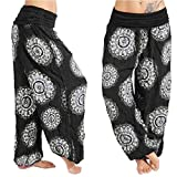 Muramba Clearance Pants Womens Plus Size Loose Print Harem Wide Trouser
