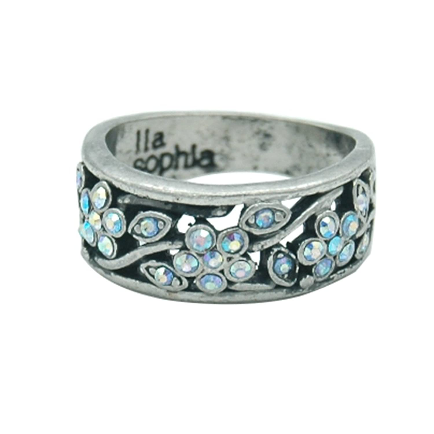 Amazon Lia Sophia Antiqued Jewelry Court Style Flower Rings