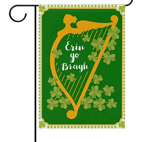 - Saint Patrick's Day ARP Clover Leaves Garden Yard Flag Banner House Home Decor 12 x 18 inch, Erin Go Bragh Small Mini Decorative Double Sided Welcome Flags for Holiday Wedding Party Outdoor Outside