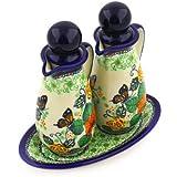 Polish Pottery Seasoning Set 7-inch Butterfly Meadow UNIKAT