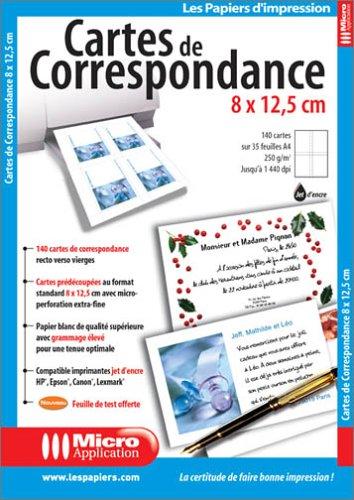Cartes De Correspondance 8 X 125 Cm Amazonfr High Tech