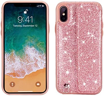 LAOHAO IPhoneXsMax携帯電話ケース無地滑り止め滑り止めカード電話ケース包括的な保護レザーケース保護ケースiPhoneシリーズに適用 防水携帯電話ケース (Color : Pink, Size : IPhone8Plus)