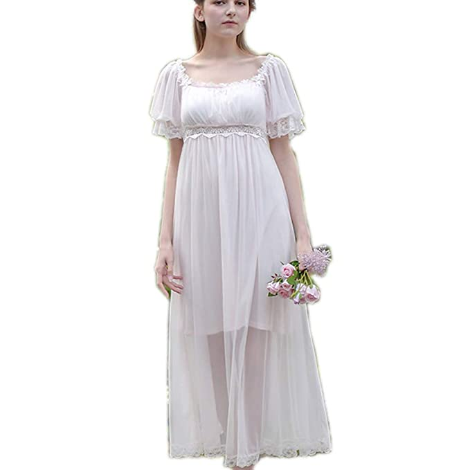 Victorian Kids Costumes & Shoes- Girls, Boys, Baby, Toddler Womens Summer Lace Vintage Nightgown Victorian Princess Nightdress Chemises Babydoll Pajamas Lounger Sleepwear $30.89 AT vintagedancer.com