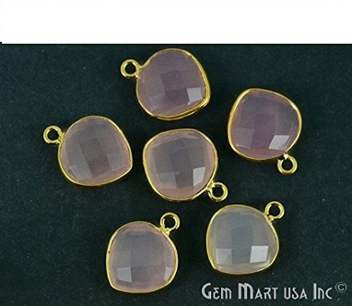 Natural Rose Chalcedony, Bezel connector - Bezel Gemstone Shopping Results