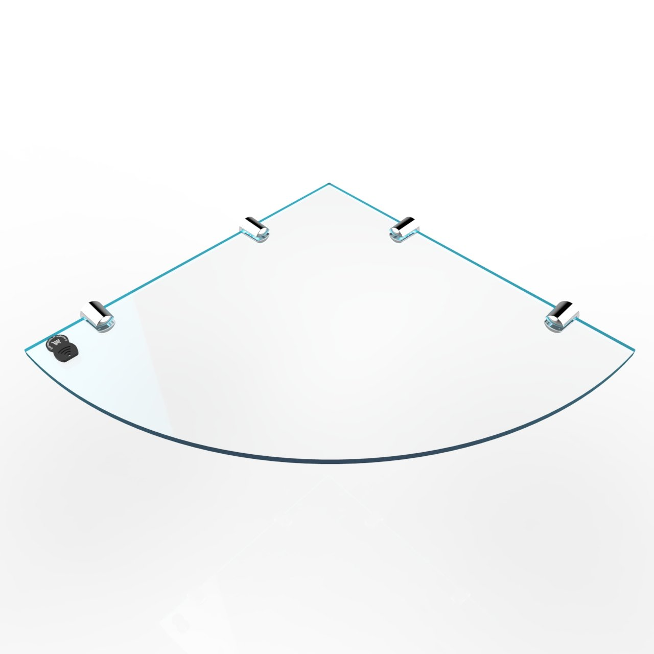 150mm Glass Effect by Expression Products Small Acrylic Corner Bathroom Shelf approx 6 Genuine item as shown only available from Expression Products