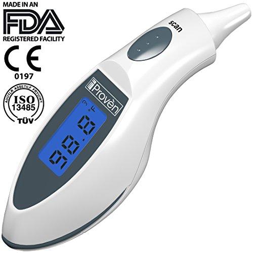 Лучший термометр уха ● термометр температуры оригинальный цифровой инфракрасный тела на Iproven ● 100% клинически доказано, что они очень точны ● Et-116A Является очень удобным термометр уха для точного измерения температуры для людей, которые ищут лучший