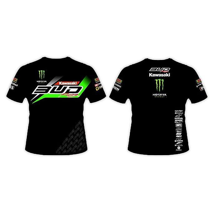 BUD RACING - Camiseta de manga corta - para niño negro 12 años