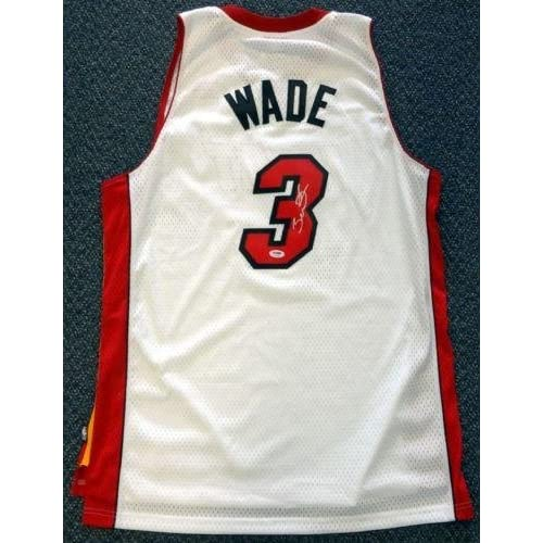 a778f3a5c Signed Dwyane Wade Jersey - White Adidas - PSA DNA Certified - Autographed  NBA Jerseys