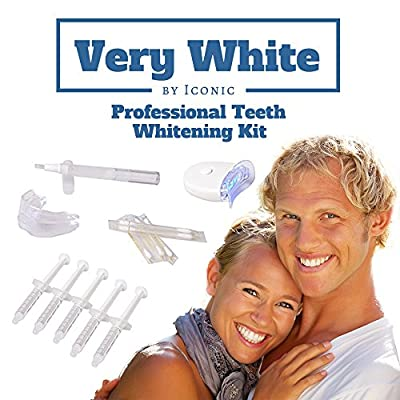 #1 Dr. Rated Best Professional Brilliant Bright Smile Teeth Whitening At Home Kit. Bonus Free Teeth Whitener Pen ($15 Value) 5 Xl Syringe, 1 LED Light and 1 Extra Soft Power Tray! Made in the USA