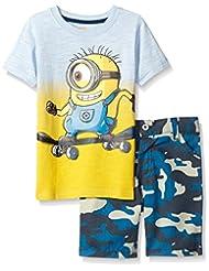 Universal Little Boys' 2 Piece Minions Woven Short Set