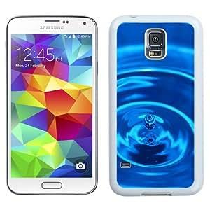 NEW Unique Custom Designed Samsung Galaxy S5 I9600 G900a G900v G900p G900t G900w Phone Case With Macro Water Drop Ripples_White Phone Case