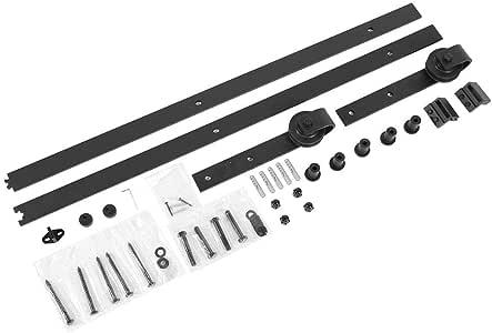 6FT 183cm Kit de Herrajes de para Puertas de Granero Corrediza Riel de Deslizamiento para Puerta de Madera Carril para Puertas Corredera: Amazon.es: Bricolaje y herramientas