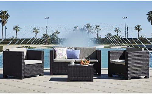 Shaf - Diva | Set Muebles de Jardin de Color Gris Oscuro | Fabricado en España con Materiales Reciclados: Amazon.es: Jardín