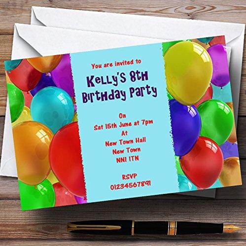 ahorrar en el despacho 90 Invitations Aqua globos personalizado invitaciones de de de fiesta para niños  gran descuento