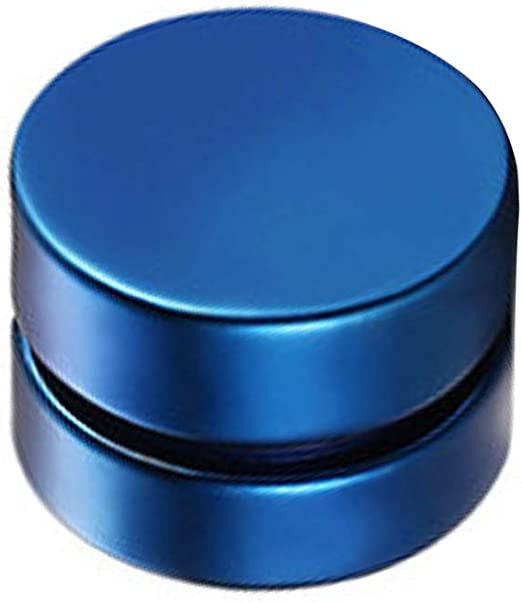 LuLyL Joyer/ía 6-12mm Pendientes Hombre Mujer Estilo Hip Hop Redondos Pendientes(Ancho Azul-8 Mm) Non Piercing Negros Pendientes de iman