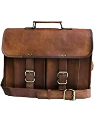 14 Inch Mens Genuine Leather Messenger College Macbook Air Pro Laptop Ipad Tablet Briefcase Satchel Bag