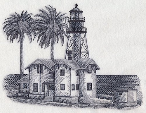 New Point Loma Lighthouse San Diego California Custom Embroidered Sweatshirt Shirt by SewUnusuals