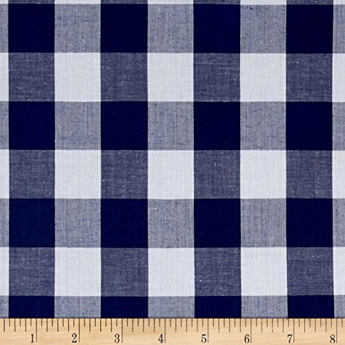(Richland Textiles Richcheck 60in Gingham Check 1in Navy Fabric By The Yard)
