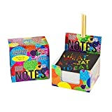 Scratch Off Mini Notes + 2 Stylus Pens Kit: 150 Sheets of Rainbow Holographic Scratch Paper for Kids Arts and Crafts, Plane or Travel Toys - Cute Unique Gift Idea for Kids, Girls, Women, or Anyone!