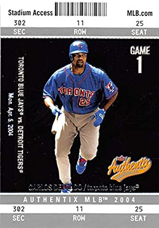 a55250631 Amazon.com  2004 Fleer Authentix  44 Carlos Delgado Blue Jays ...