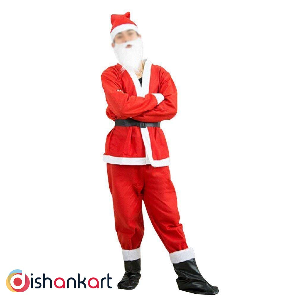 Buy Dishankart Santa Clause Christmas Day Costume Outfit For Annual Function Theme Party Competition Stage Shows Birthday Party Dress Free Size Online At Low Prices In India Amazon In