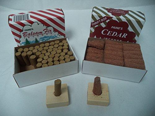 Paine's Balsam Fir 50 Sticks + Red Cedar Cones 50 Cones: 100 CHRISTMAS INCENCE (Balsam Fir Cones)