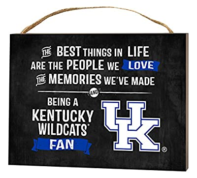 """KH Sports Fan 4"""" x 5.5"""" Kentucky Wildcats Best Things Small Collage Plaque"""