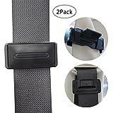 KOBWA Car Seat Belt Adjuster - 2Pcs, Seatbelt Clips Locks, Relax Shoulder Neck, Smart Adjust Car Seat Belts for Baby, Kids and Pregnancy