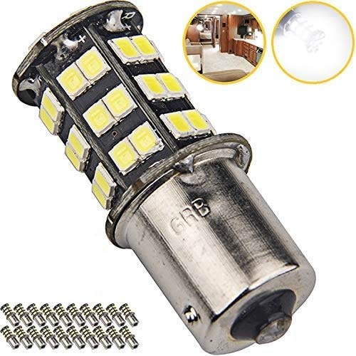 Super Bright 1156 1141 1003 7506 BA15S LED Bulbs 45-SMD 12V RV Camper Trailer Boat Trunk Interior Lights(White 6000K Color Temperature, 20-Packs)