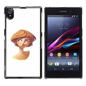 Blanco Carácter Redhead Niños Niños'S- Metal de aluminio y de plástico duro Caja del teléfono - Negro - Sony Xperia Z1 L39