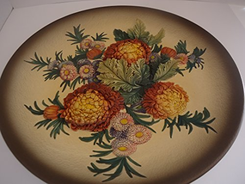 Bosson Flower Collection Chalkware (Chalkware Wall Plaque)