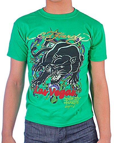 Ed Hardy Big Boys' Panther Tee Shirt - Green - X-Large