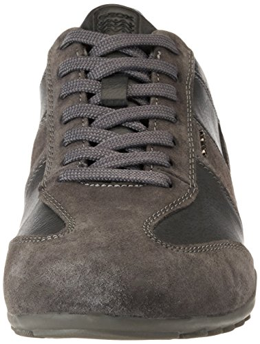 Basses Bleu U Geox Sneakers Gris Anthracite A Wells Homme BRPxTInxv