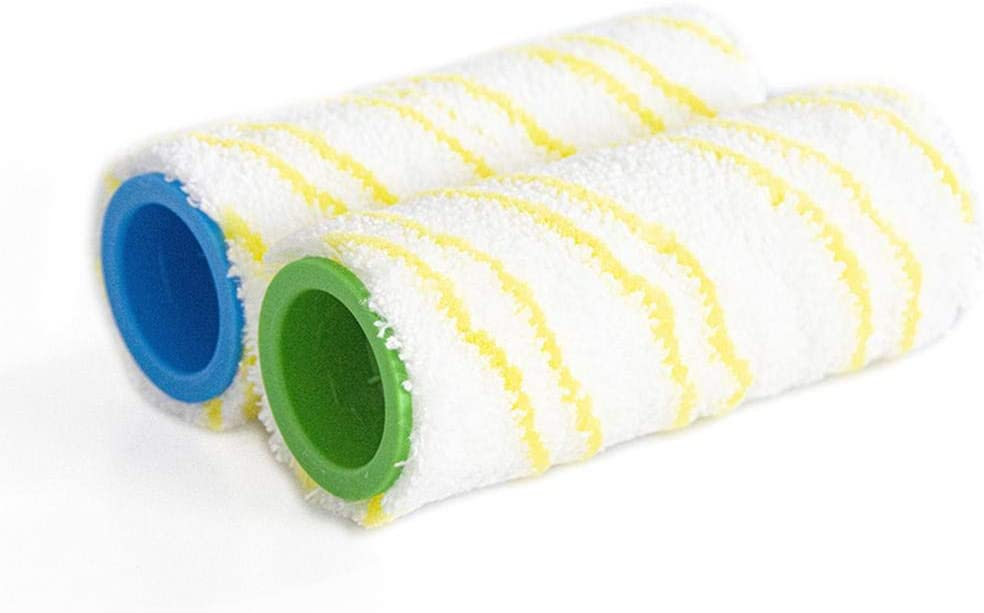 Lancei 1pair Multi-Surface Roller Replacement Roller Set For FC3//FC5 Wet And Dry Hard Floor Cleaner