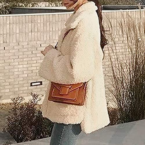Laine Revers De Chaud Manteaux Outwear Manteau Pour Dames Monochrome Kaki Artificielle Femmes Huhu833 D'hiver RSfwExwq